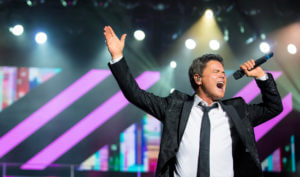 Donny Osmond Singing At Las Vegas Show