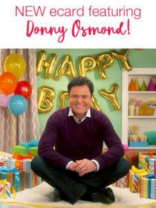 Donny Osmond Happy Birthday ECard